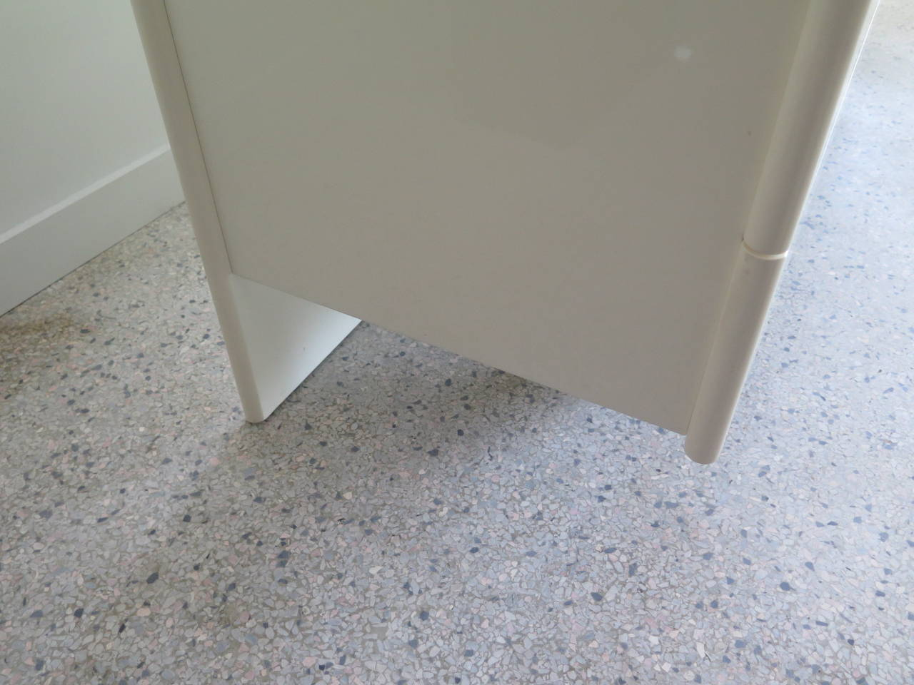 Pair of Large White Lacquer Chests 4
