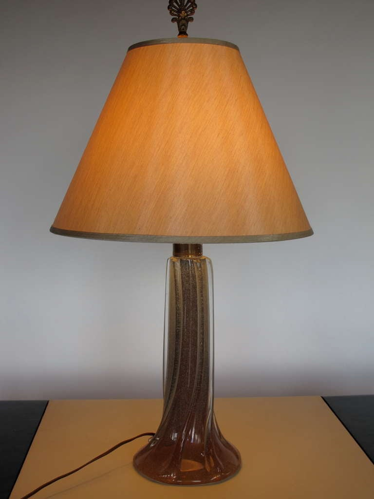 Elegant Glass Table Lamp By Seguso For Sale At 1stdibs