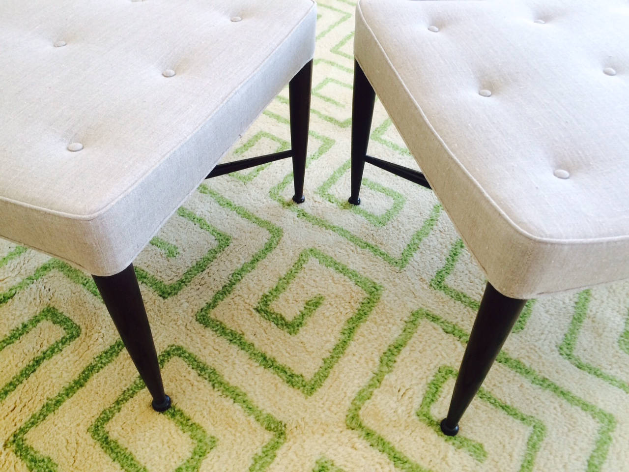 American Pair of Dunbar Thiebes Stools For Sale