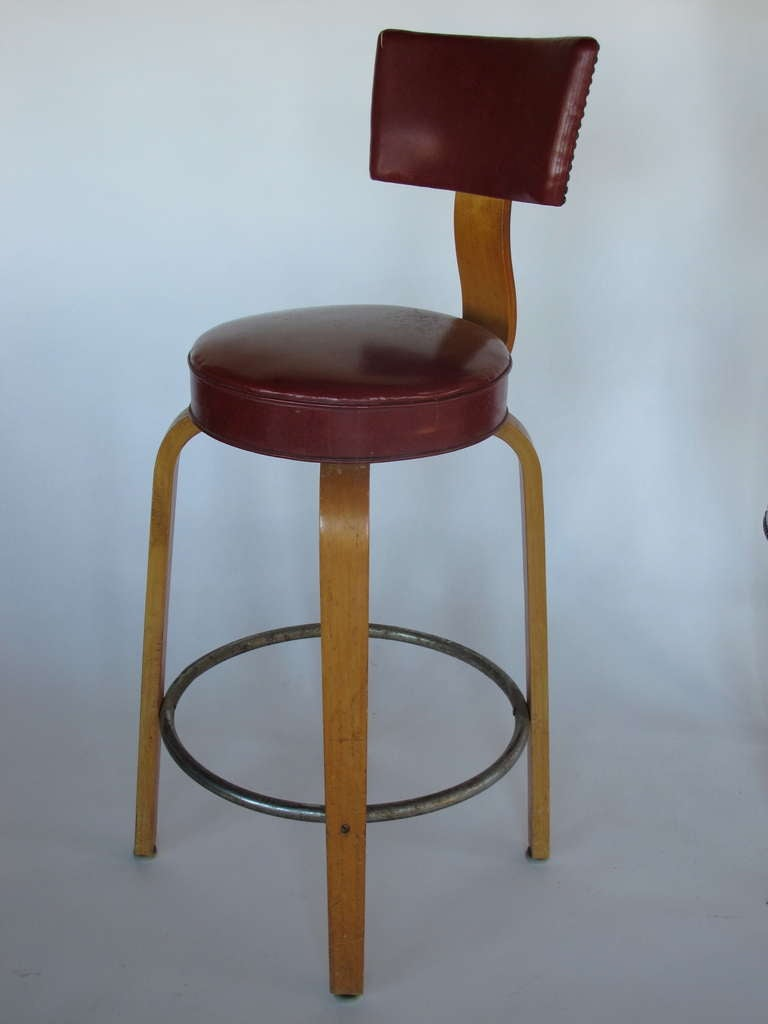 A Set of Bar Stools By Thonet 2