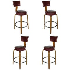 A Set of Bar Stools By Thonet