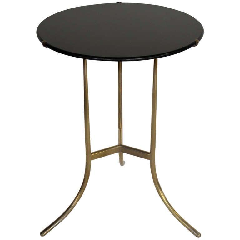 A Cedric Hartman Table with Black Granite Top