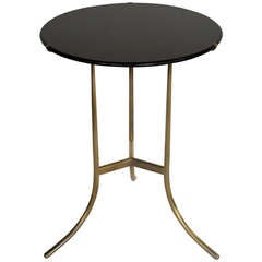 A Cedric Hartman Table with Black Granite Top