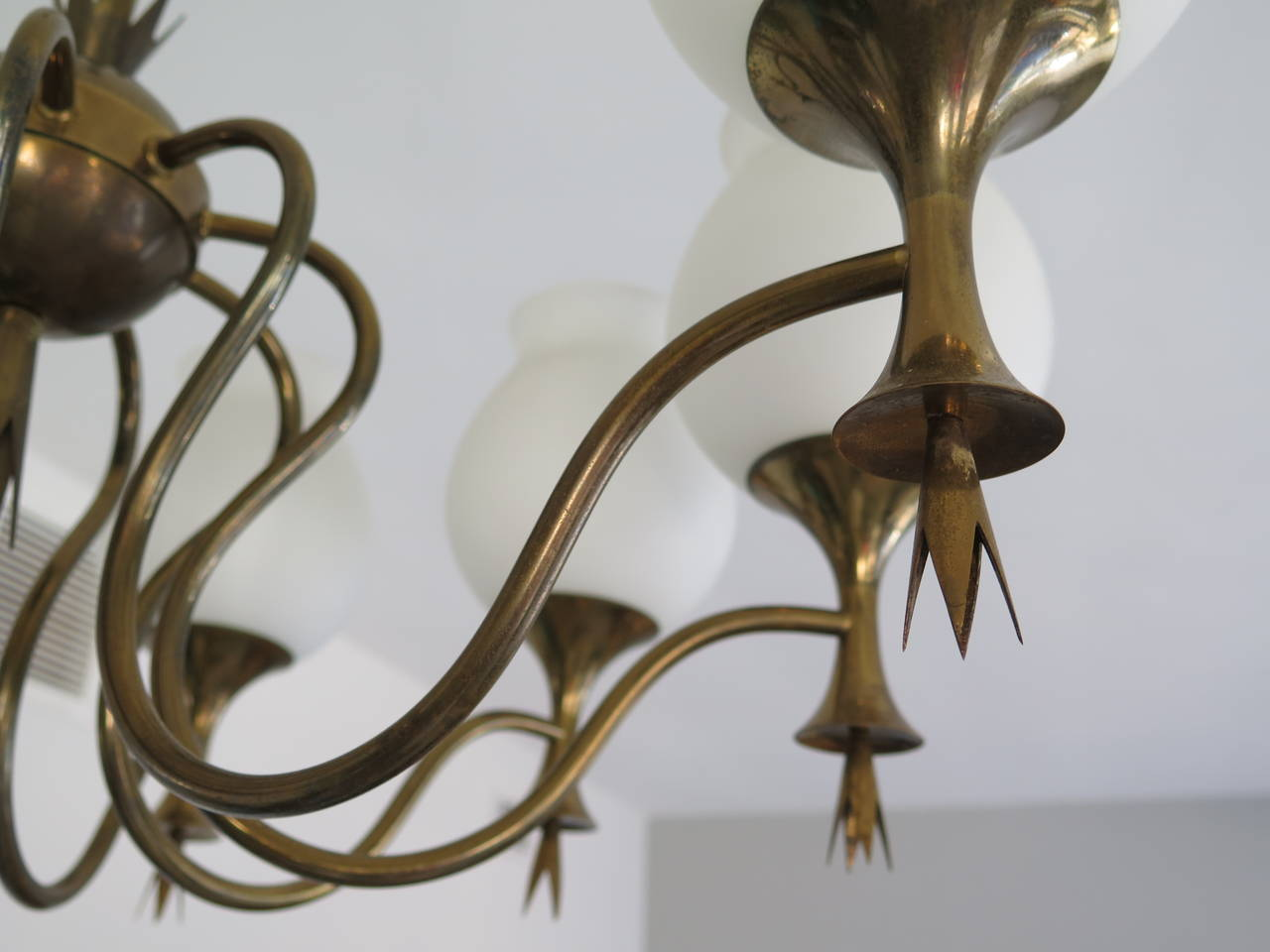 Italian Elegant Chandelier by Angelo Lelii for Arredoluce, Italy, circa 1956 For Sale