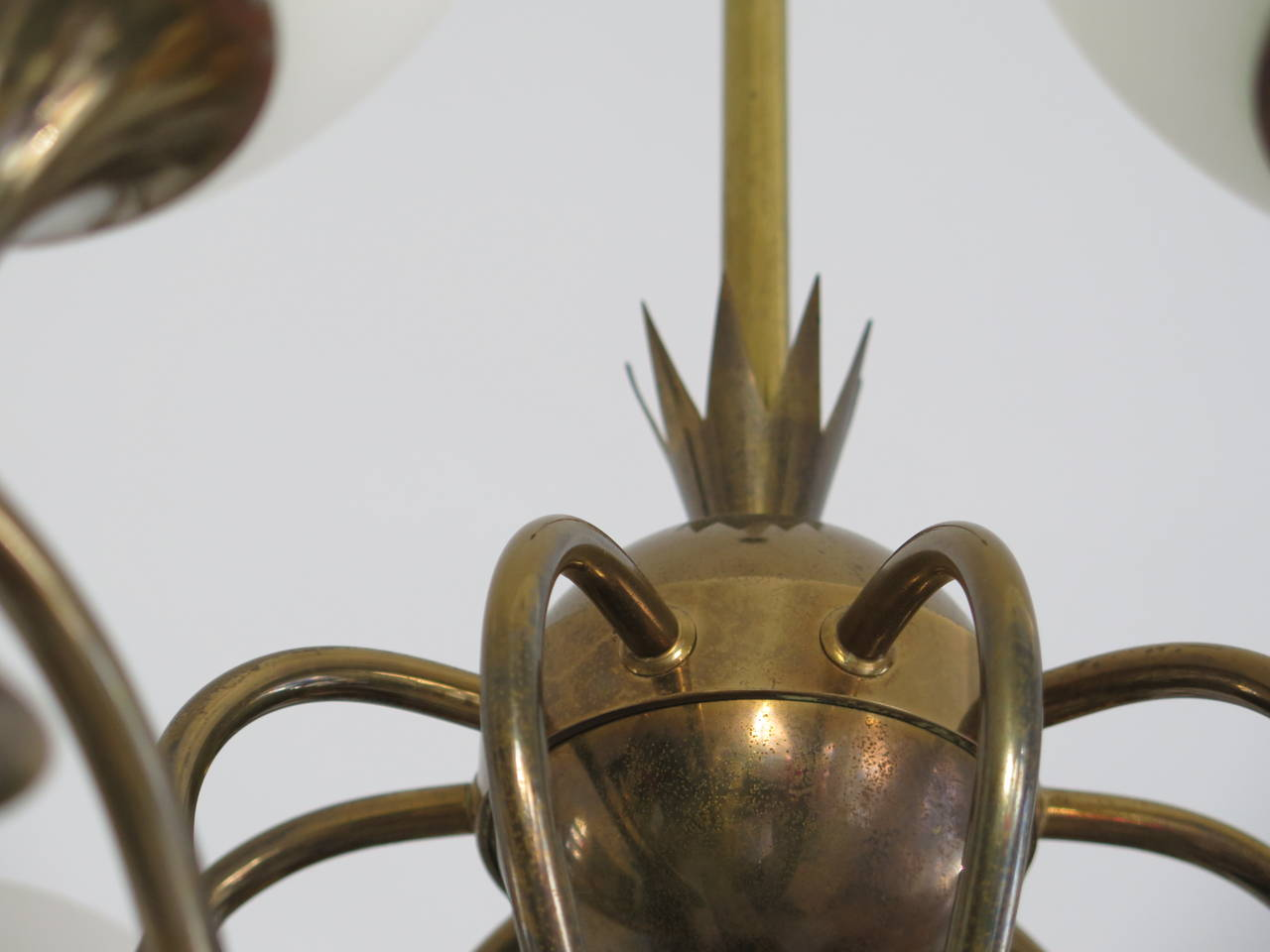Mid-Century Modern Elegant Chandelier by Angelo Lelii for Arredoluce, Italy, circa 1956 For Sale