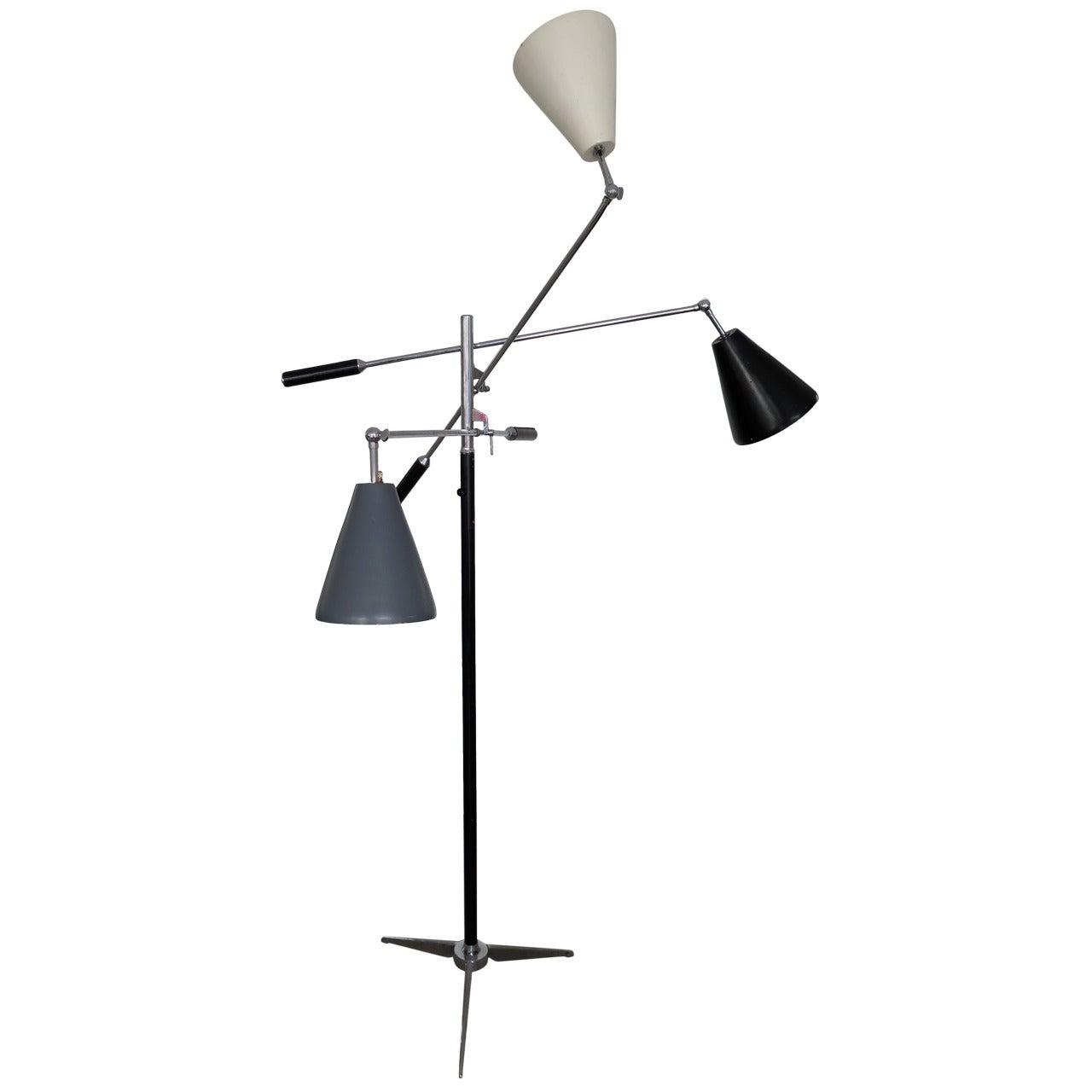 Triennale Style Midcentury Italian Floor Lamp, circa 1960s