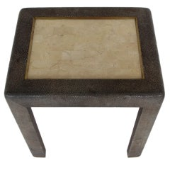 Elegant Table by Maitland-Smith In Shagreen and Tessellated Stone