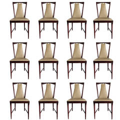 Set of 12 Elegant Chairs in the style of Osvaldo Borsani