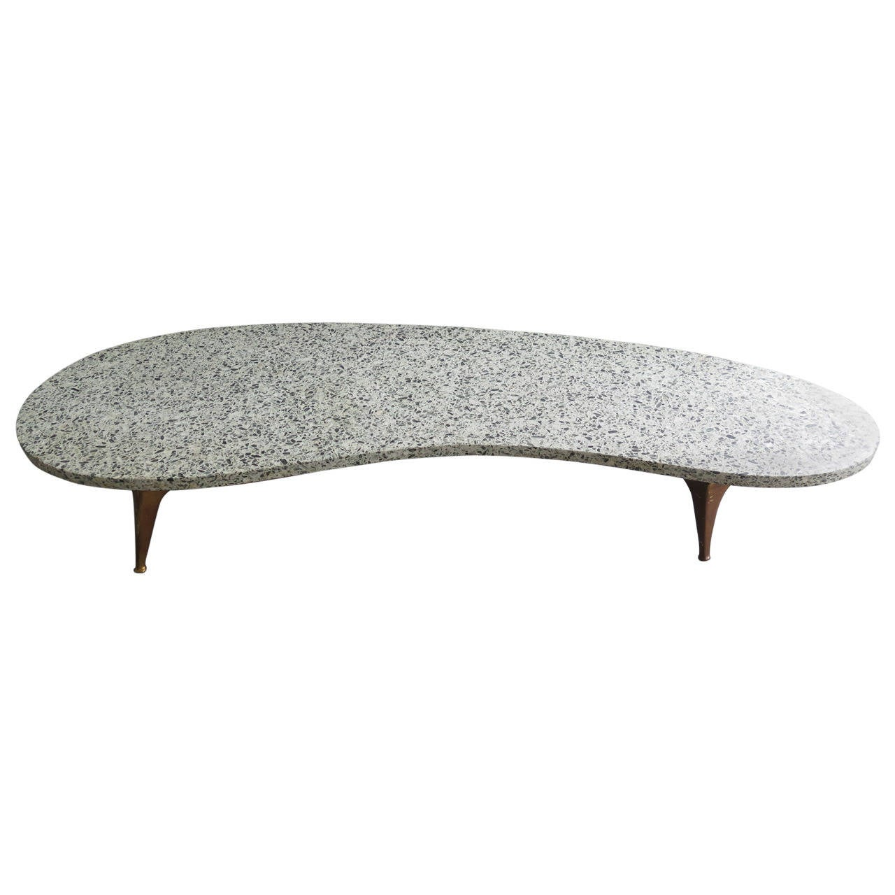 Unusual Terrazzo Biomorphic Coffee Table at 1stdibs