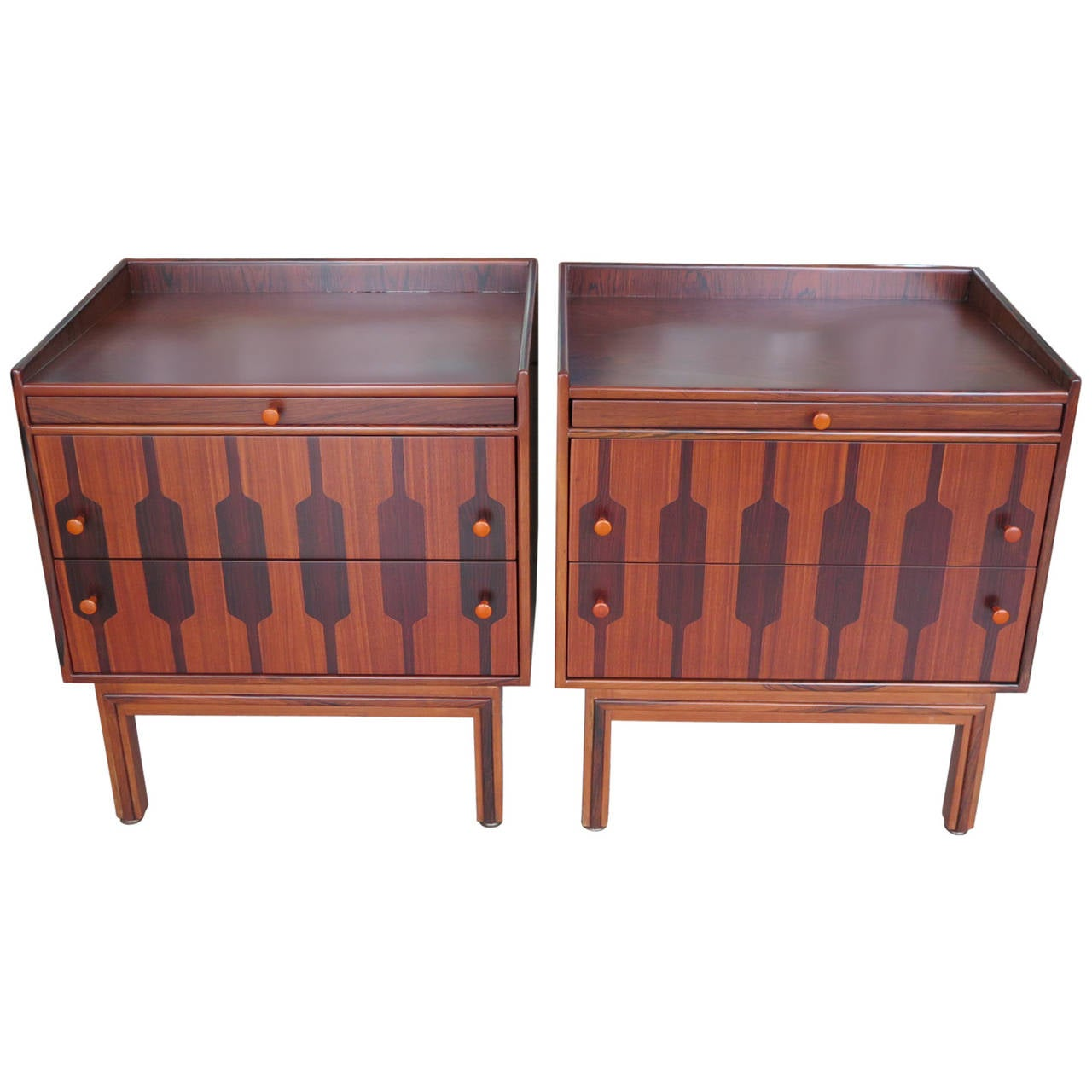 Pair Of Rom Weber Rosewood Nightstands At 1stdibs. Full resolution‎  image, nominally Width 1280 Height 1280 pixels, image with #964835.