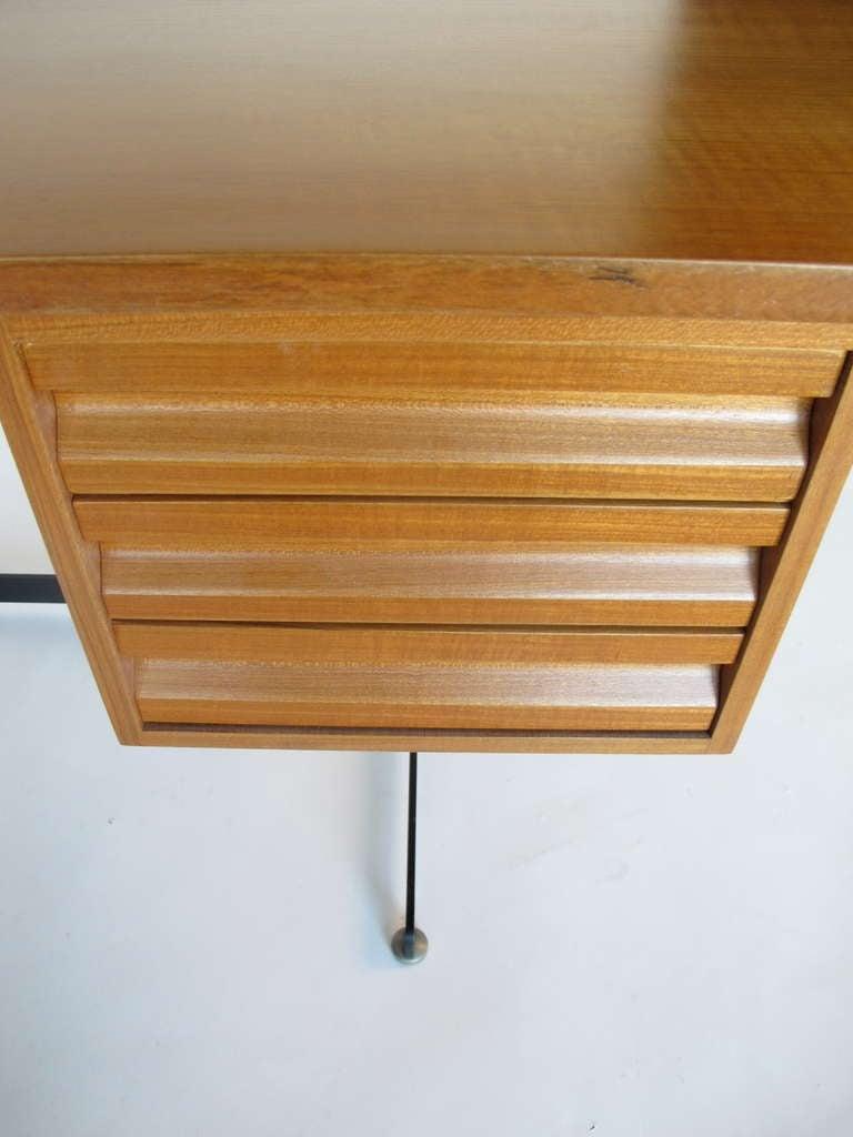 Italian Osvaldo Borsani for Tecno Desk, circa 1950s For Sale