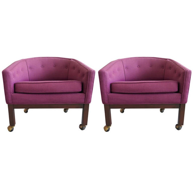 Pair of Kipp Stewart for Directional Tub Chairs For Sale