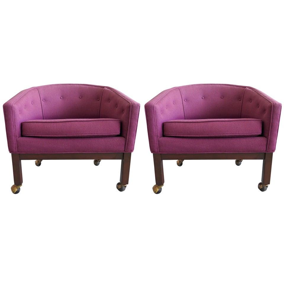 Pair of Kipp Stewart for Directional Tub Chairs