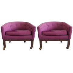 Pair of Kipp Stewart for Directional Tub Chairs