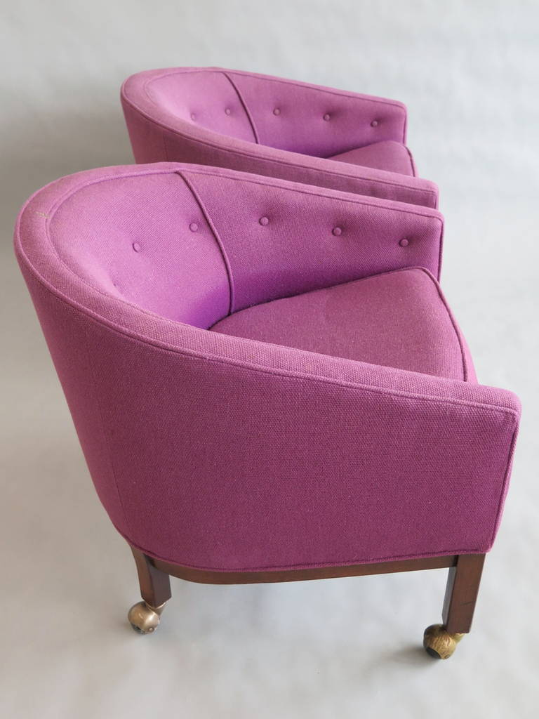 Modern Pair of Kipp Stewart for Directional Tub Chairs For Sale