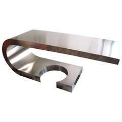 Marzio Cecchi Diapason Desk in Brushed Steel