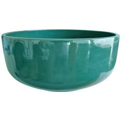 Gainey Pottery Green Glaze Ceramic Planter