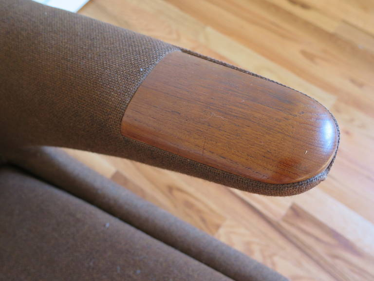 Original Hans Wegner Papa Bear Chair and Ottoman For Sale 4