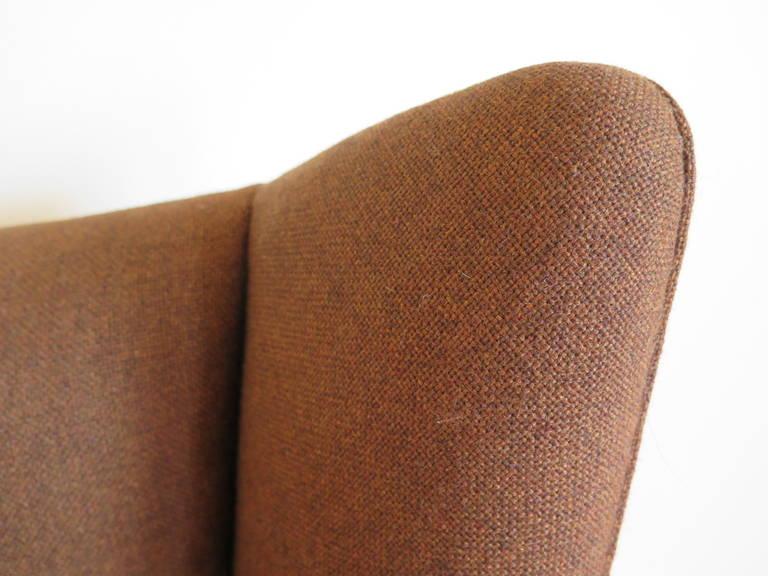 Original Hans Wegner Papa Bear Chair and Ottoman For Sale 2