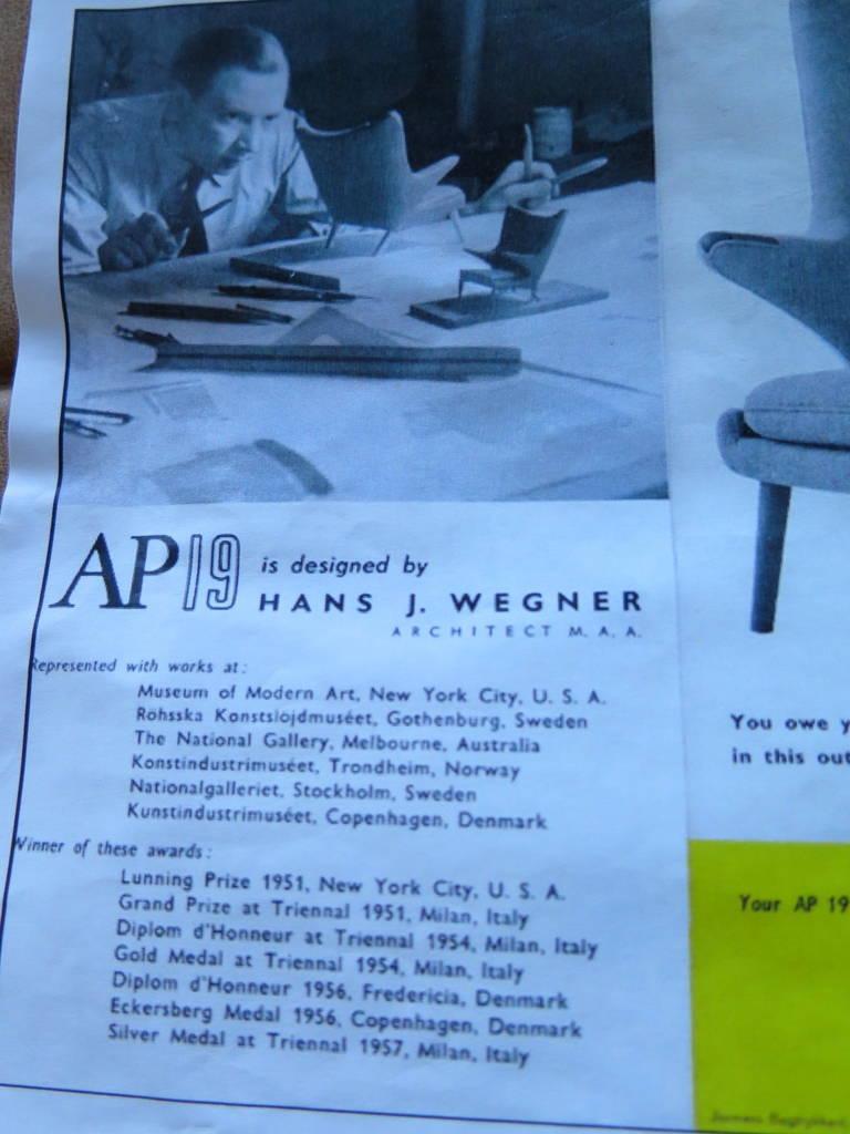 Original Hans Wegner Papa Bear Chair and Ottoman For Sale 3