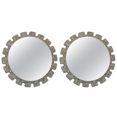 A Pair of 1970's Illuminated  Resin Mirrors