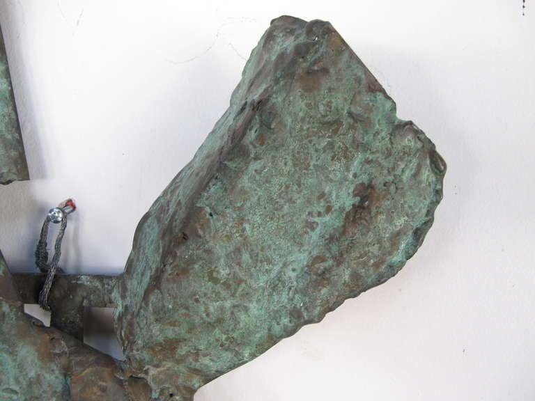 Mid-20th Century Unusual Bronze Sculpture by Priscilla Pattison, circa 1950s For Sale