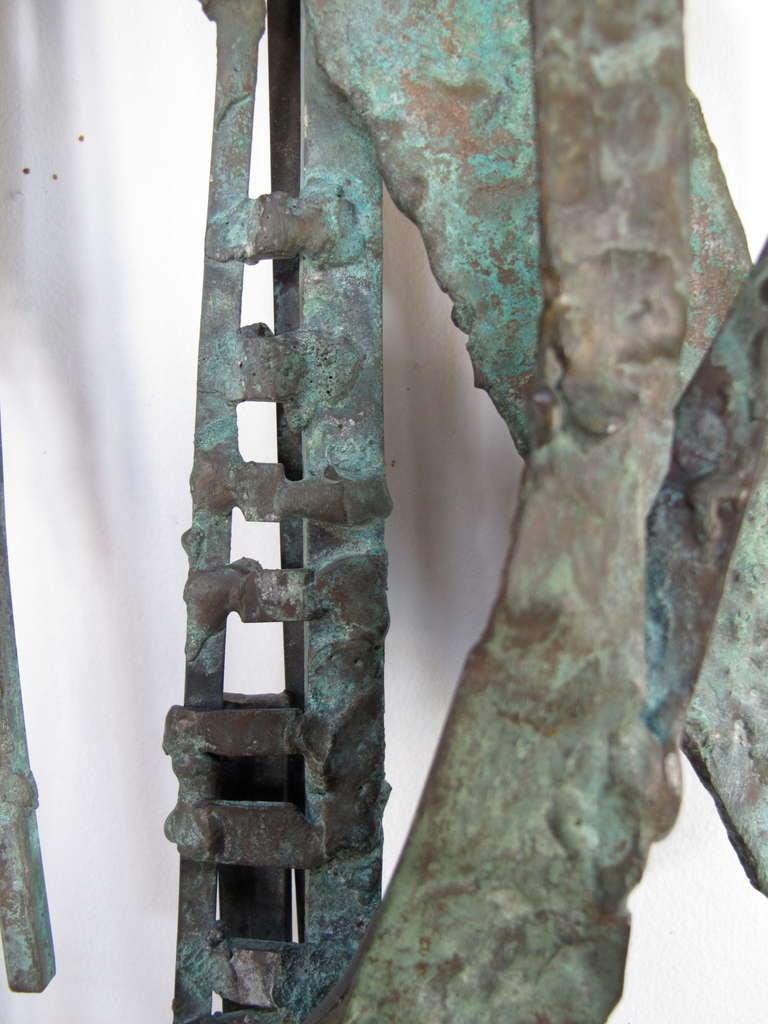 Modern Unusual Bronze Sculpture by Priscilla Pattison, circa 1950s For Sale
