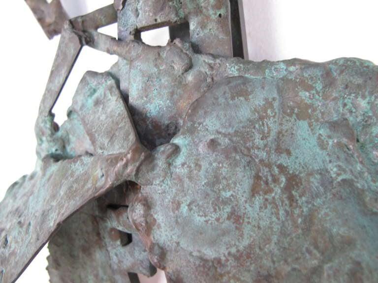 American Unusual Bronze Sculpture by Priscilla Pattison, circa 1950s For Sale