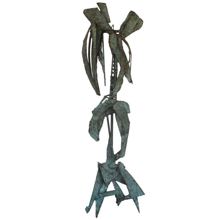 Unusual Bronze Sculpture by Priscilla Pattison, circa 1950s For Sale