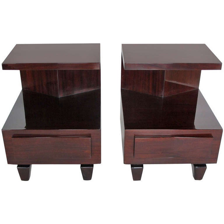 A Pair Of Unusual Night Stands By Home Furniture 1942 At 1stdibs