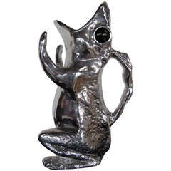 A Charming Frog Pitcher by Arthur Court in Cast Aluminum