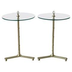 Pair of Polished Brass Italian Gueridons