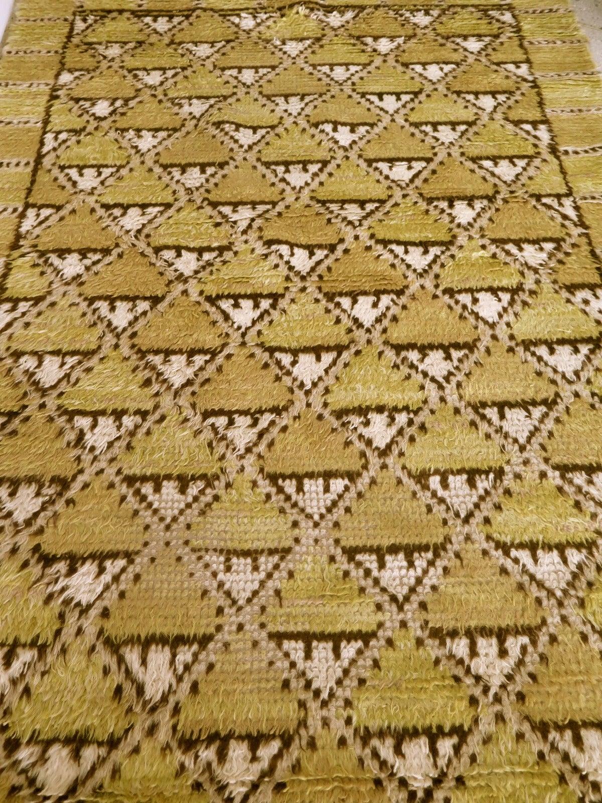 Geometric Rya Carpet by Marta Maas-Fjetterström 3