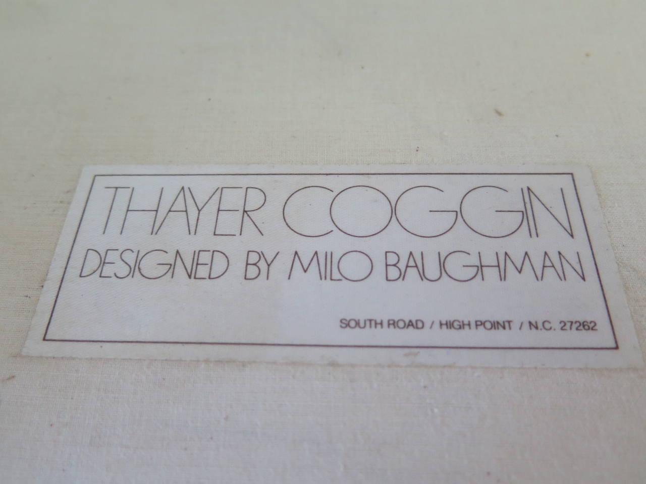 Pair of Classic Minimalist Milo Baughman Settees 7