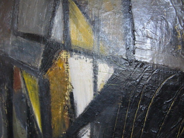 Mid-20th Century A Large Oil on Canvas by Hilda Altschule For Sale