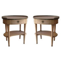 A Pair of  Oval Nightstands by Grosfeld House