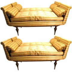 A Pair of Upholstered Benches by Erwin Lambeth