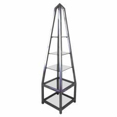 Obelisk Etagere In Polished Aluminum