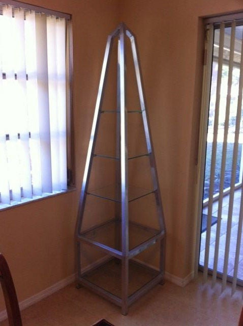 Obelisk etagere in polished aluminum for sale at 1stdibs - Etagere aluminium design ...