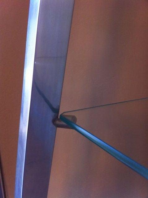 obelisk etagere in polished aluminum for sale at 1stdibs. Black Bedroom Furniture Sets. Home Design Ideas