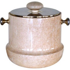 Aldo Tura Ice Bucket in Goatskin