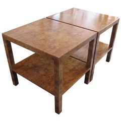 A Pair of Olivewood Occasional Tables