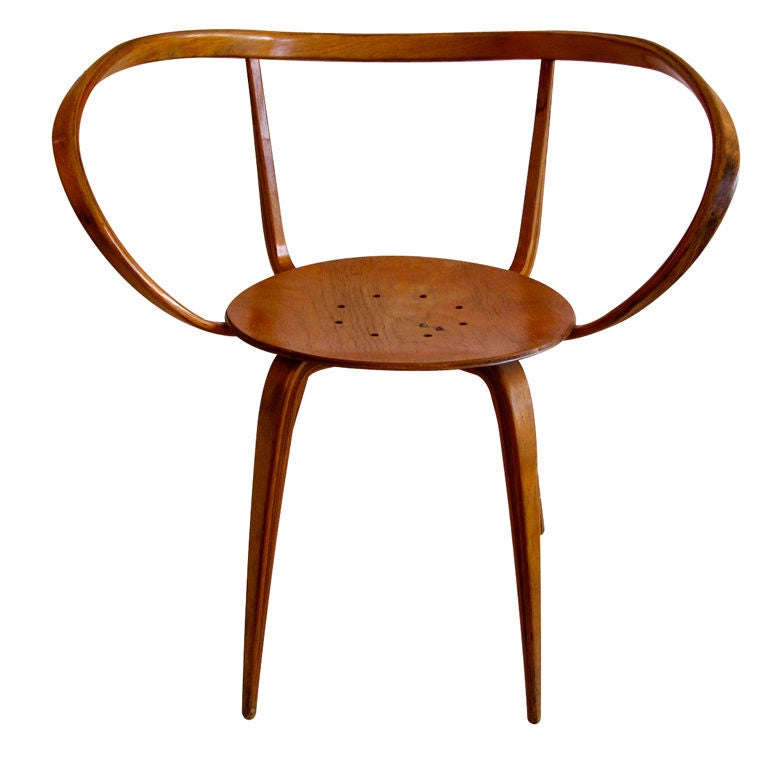 Early George Nelson Bentwood Quot Pretzel Quot Arm Chair At 1stdibs