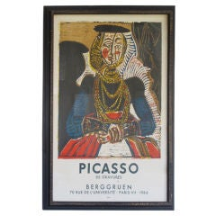 A Picasso Lithograph Exhibition Poster 1966