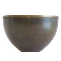 A Modernist Bronze Bowl by Just Andersen
