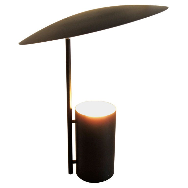 George Nelson Half Nelson Table Lamp In Black At 1stdibs