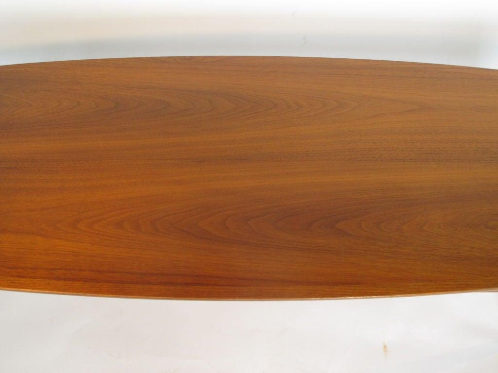 American Elegant Surfboard Coffee Table By Heritage In Natural Walnut