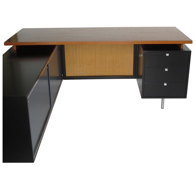 a george nelson for herman miller executive l shaped desk at 1stdibs