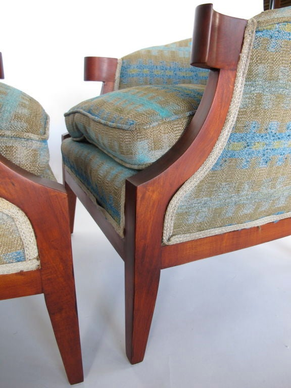 Pair of Classic Armchairs by Baker For Sale 4