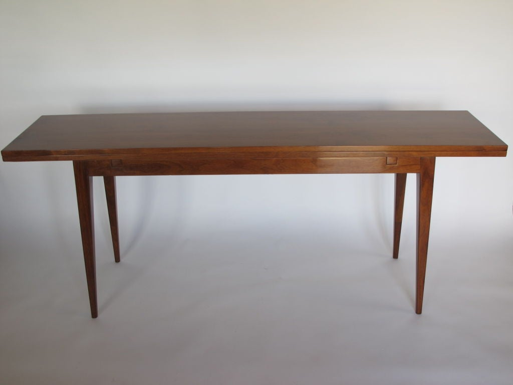 A Classic Console Table By Edward Wormley For Dunbar. Top Extends From 17  To 34